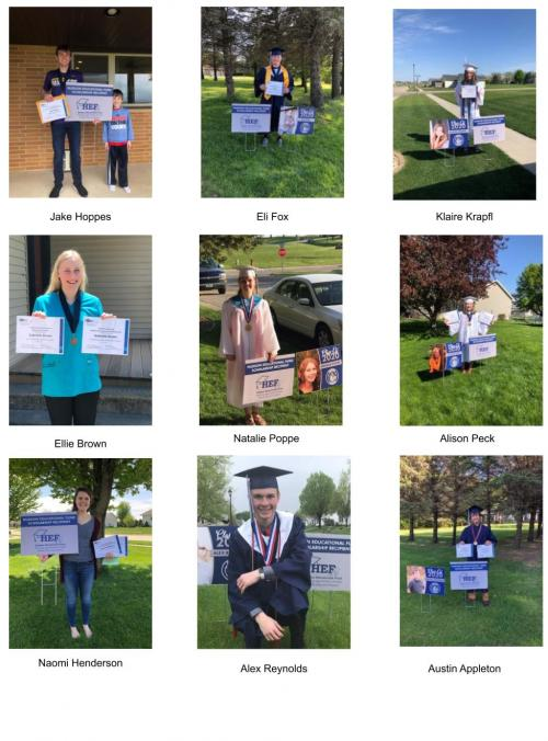2020 HEF Scholarship Winners