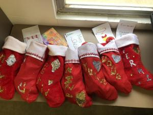 GT students filled holiday stockings for the International Exchange students.