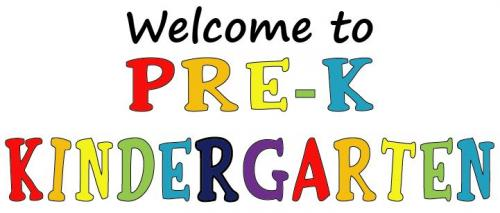 Welcome to PreK K