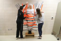 Principal Mariani Gets Taped to Wall