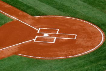 Picture of baseball field at home plate