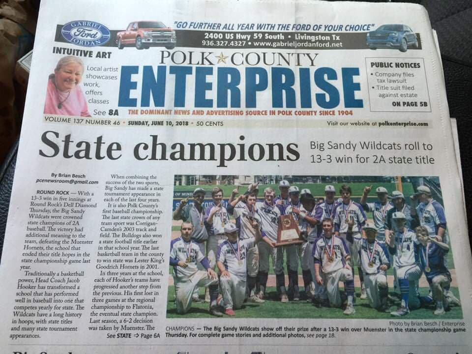 Front Page Polk County Enterprise
