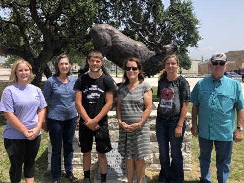 The Evant ISD Heritage Foundation annually funds scholarships to graduating Evant ISD seniors who enroll in two or four year college or institute. This photo is of the 2020 recipients and Evant ISD Heritage Foundation Board Members