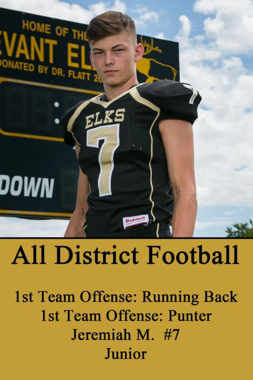 Jeremiah M-All District Football