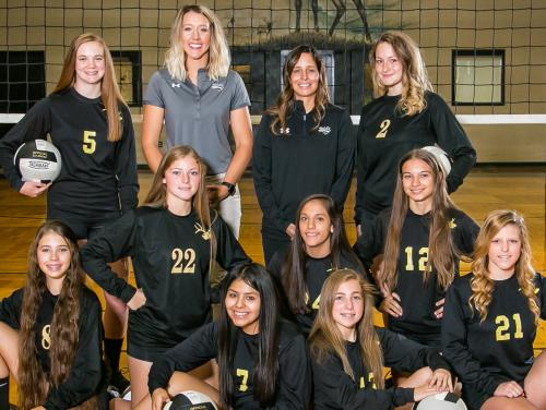 2018-19 HS JV Lady Elks Volleyball Team