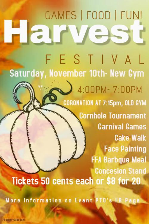 PTO Harvest Festival Flyer