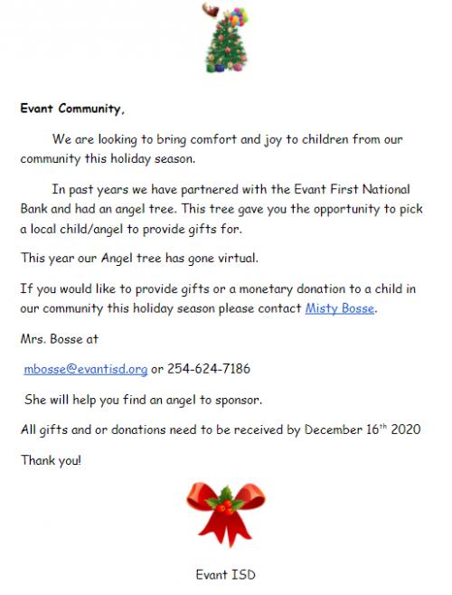 2020 Angel Tree Information