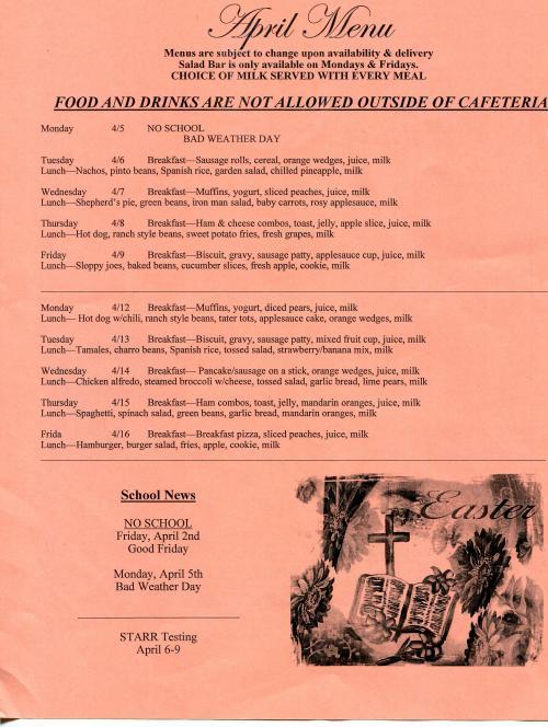 April Menu page 1