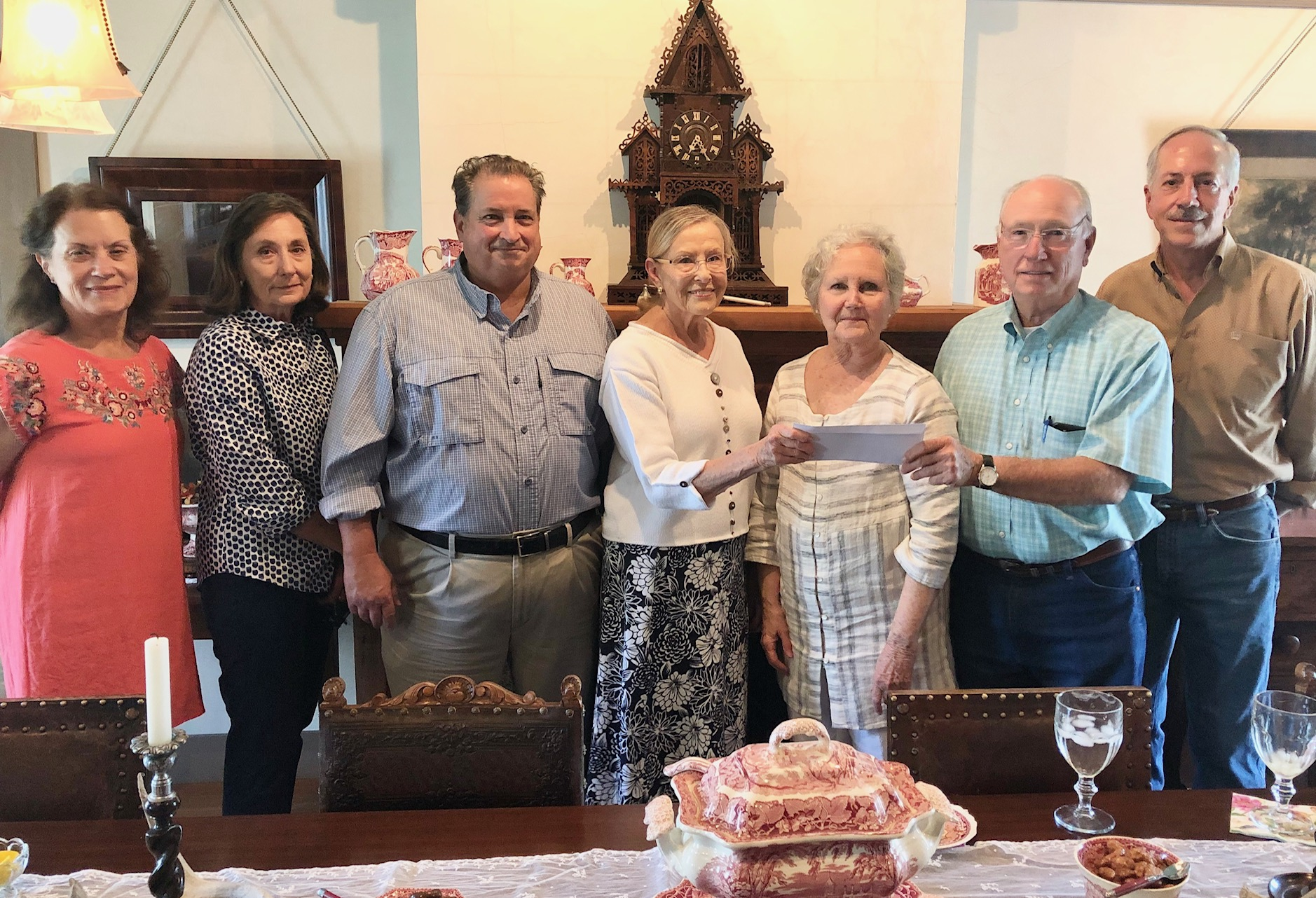 Mrs. Betty Marshall Stinson donated funds to the Evant ISD Heritage Foundation Board Members in the hope of motivating other alumni to contribute to the improvement of the educational experiences at Evant ISD.