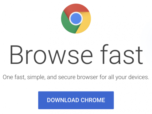 Link to download Google Chrome