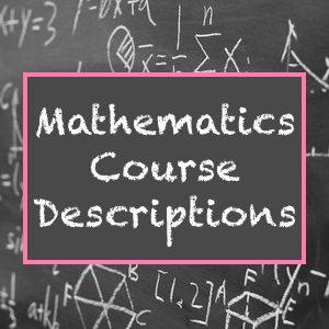 Math Course Descriptions
