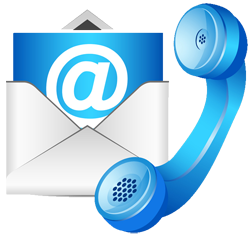 picture of email and telephone