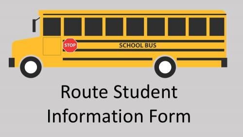 Link to route student information form