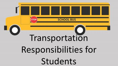 Link to transportation responsibilities for students