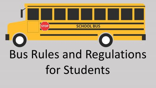 Link to bus rules and regulations for students