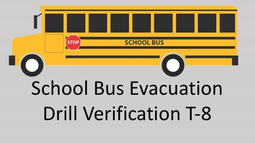 Link to bus evacuation drill verification