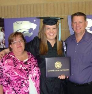 The day I graduated with my Bachelor's from K-State. My parents have always been so supportive.