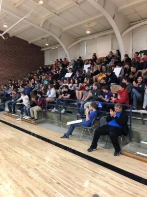 High school students hear the candidates speak