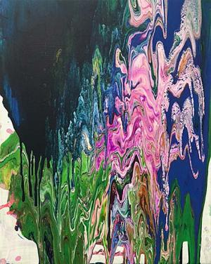 Liquid Acrylic Pour by Jasmine Young