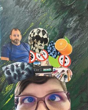 Self Portrait Collage by Jasmine Young