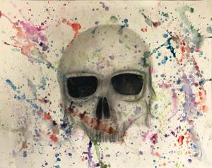 Pencil With Watercolor by Jasmine Young