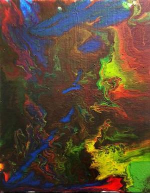Liquid Acrylic Pour by Christian Hart