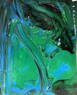 Liquid Acrylic Pour by Robert Willard