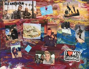 Self Portrait Collage by Amber Carroll