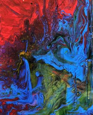Liquid Acrylic Pour by Sarina Pameticky
