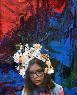 Self Portrait Collage by Sarina Pameticky