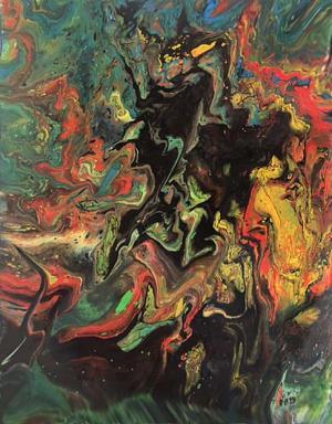 Liquid Acrylic Pour by Debbie Halbert