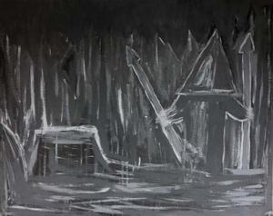 Silent Hill Painting Study by Debbie Halbert