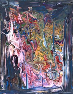 Liquid Acrylic Pour by Michiel Vaughan