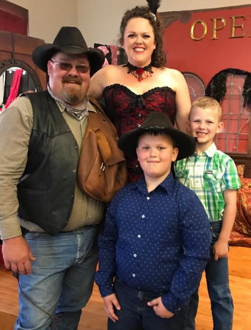 These handsome cowboys are my husband and my two boys.