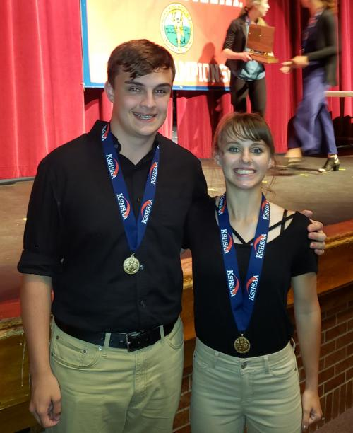 Carson & Suzy 2nd Place State Champs