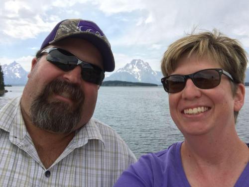Mr. and Mrs. Barnes at Grand Tetons