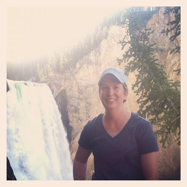 Mrs. Barnes in Yellowstone