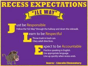 Recess Expectations