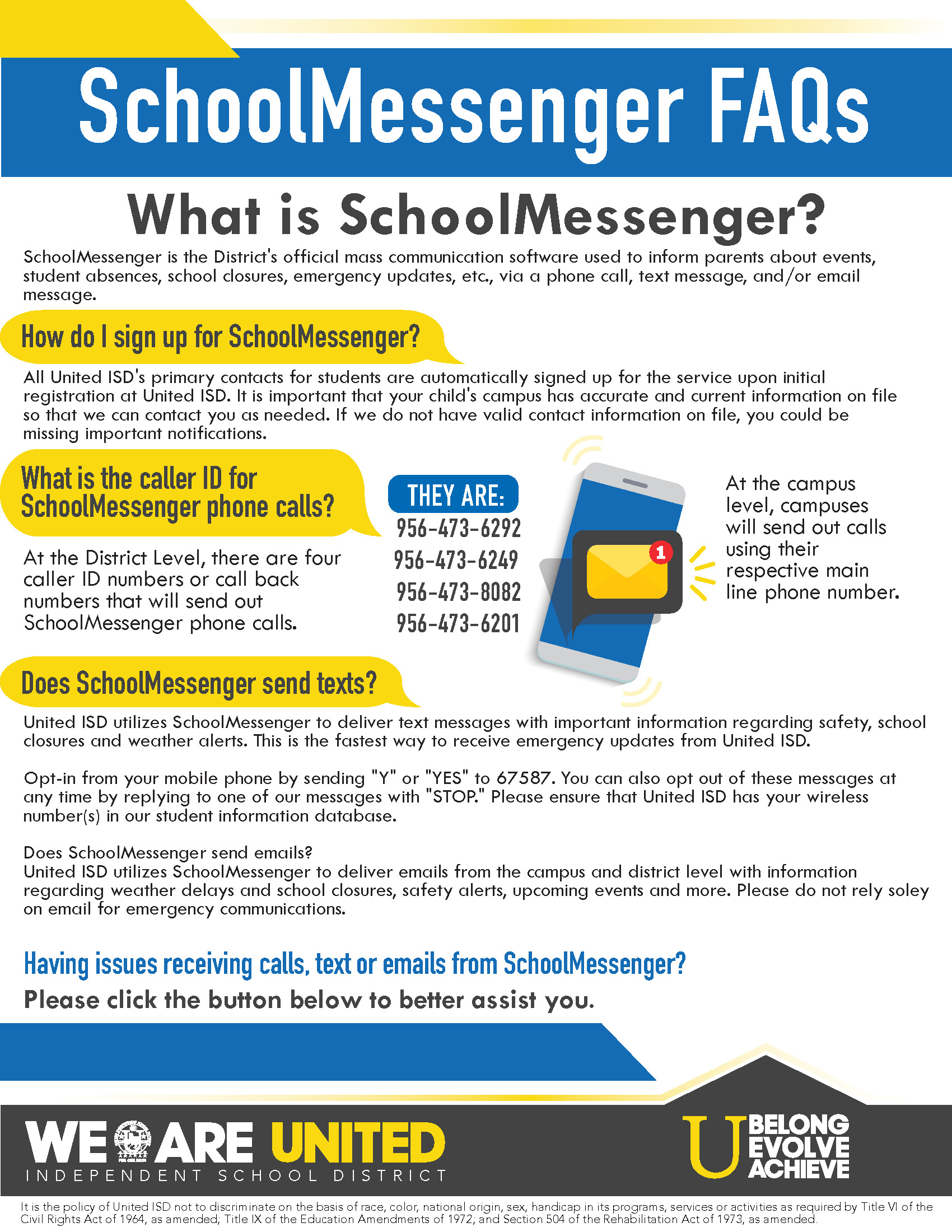 school messenger help desk
