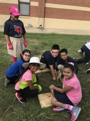 GT Students constructing the Harvest Garden