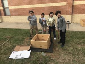 GT Students constructing the Harvest Garden