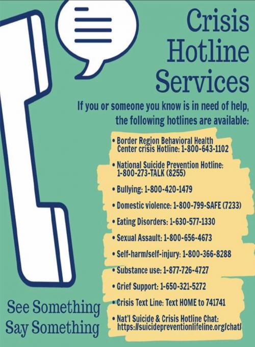 Crisis Hotline Services in English