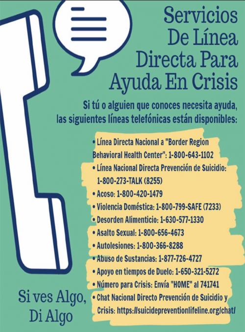 Crisis Hotline Services in Spanish