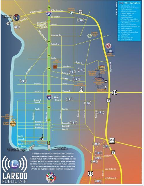 Laredo Public Wifi Spots