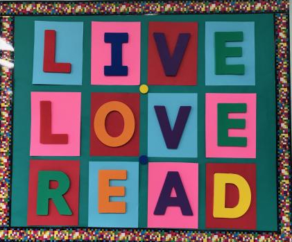 Live Love Read bulletin board