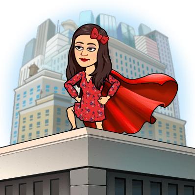 Sonia Alvarado BItmoji Superhero