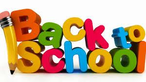 Colorful back to school words
