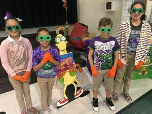 3rd - 5th grade students dressed as book character, the Thief.