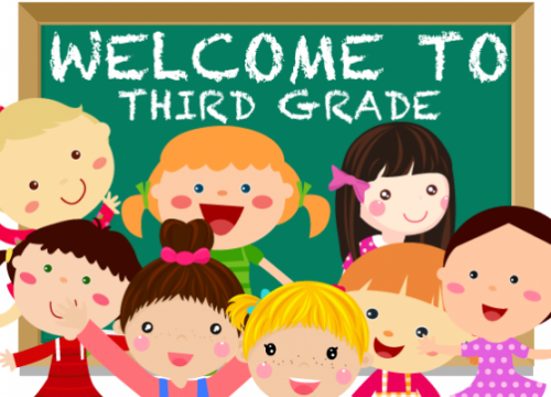 Welcome to third grade graphic