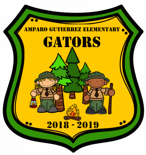 2018 Gator Camping Badge clip art